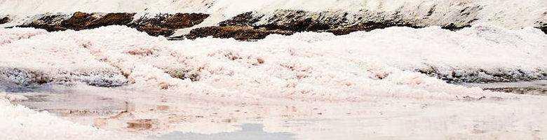 Whirlpool im Garten mit Salzwasser: Salz