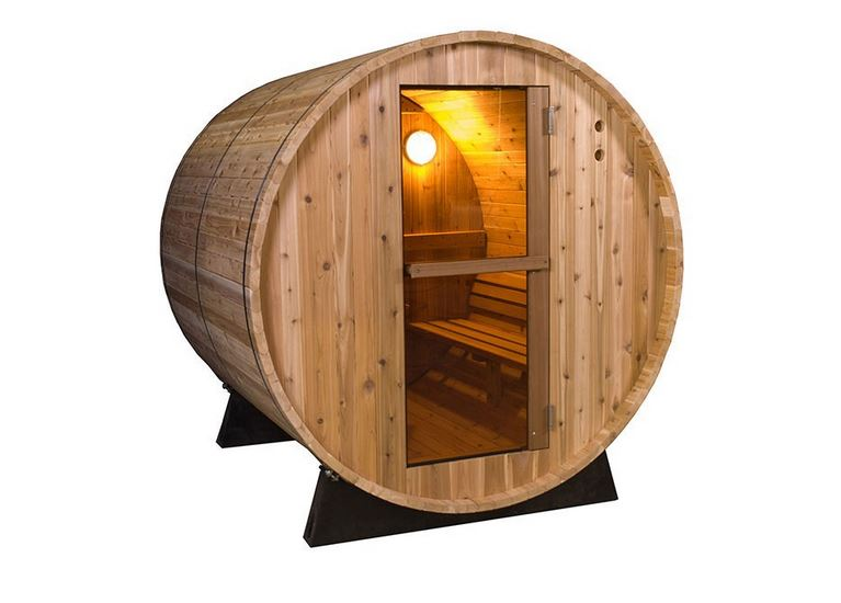sauna fass barrel mit ofen 125cm f r 2 personen. Black Bedroom Furniture Sets. Home Design Ideas